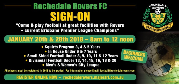 rochedale sign on 2018