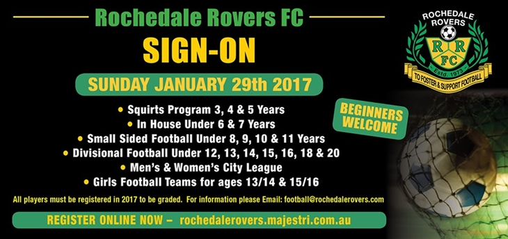 rochedale sign on 2017